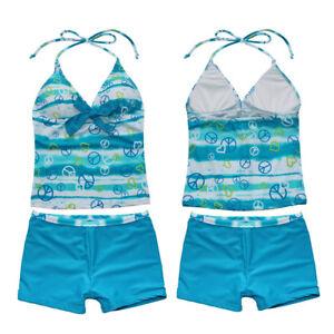 Baby Kinder Mädchen Sommer Bademode Bikini Tankini Badeanzug Badeanzug 2-10Jahre