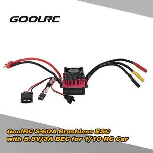 GoolRC S-60A Brushless ESC Speed Controller w/ 5.8V/3A BEC for 1/10 RC Car J2M6