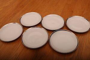 6-Aristo-Craft-Fine-China-Royal-Platinum-Bread-Salad-Plates-Made-In-Japan-6-1-2-034
