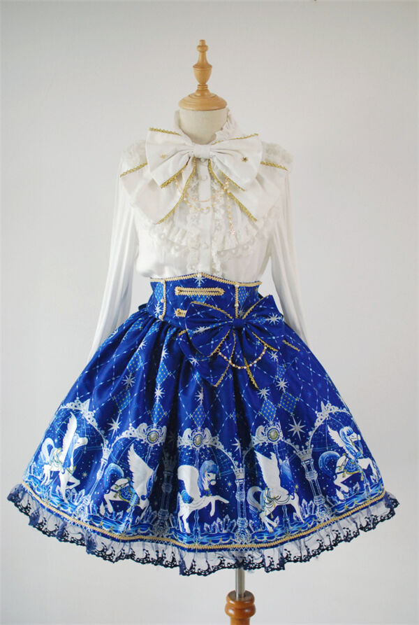 Girl Skirt bluee Sweet Princess Cosplay Cosplay Cosplay Costume Summer Lolita Skirt Halloween f9f566