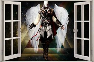 Huge-3D-Window-view-Fantasy-Angel-Wall-Sticker-Film-Mural-Art-Decal-338