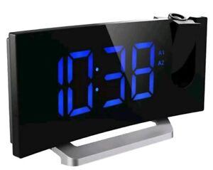 Mpow Projection Alarm Clock, Radio Digital Clock with USB Charger