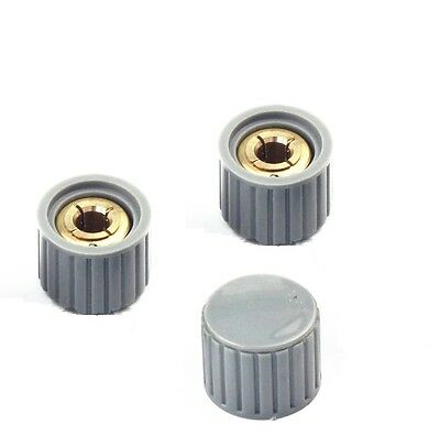 10pcs NEW  KYZ20-16-6 20*16*6mm Plastic Gray Potentiometer Knob Cover Cap