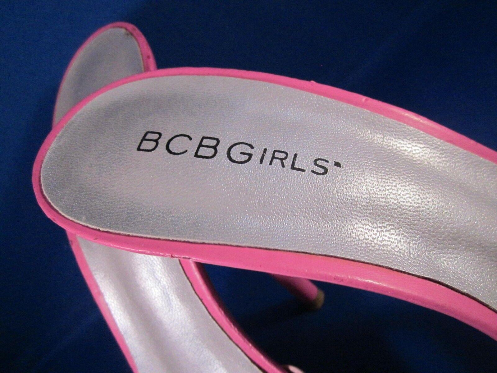 BCBGirls  Summer Slip-on Slip-on Slip-on schuhe Rosa Lilac off Weiß Strappy Pump Größe 8M L@@K 9b0948