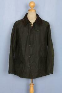 BARBOUR-Bedale-Waxed-Jacket-Green-Size-44-Large