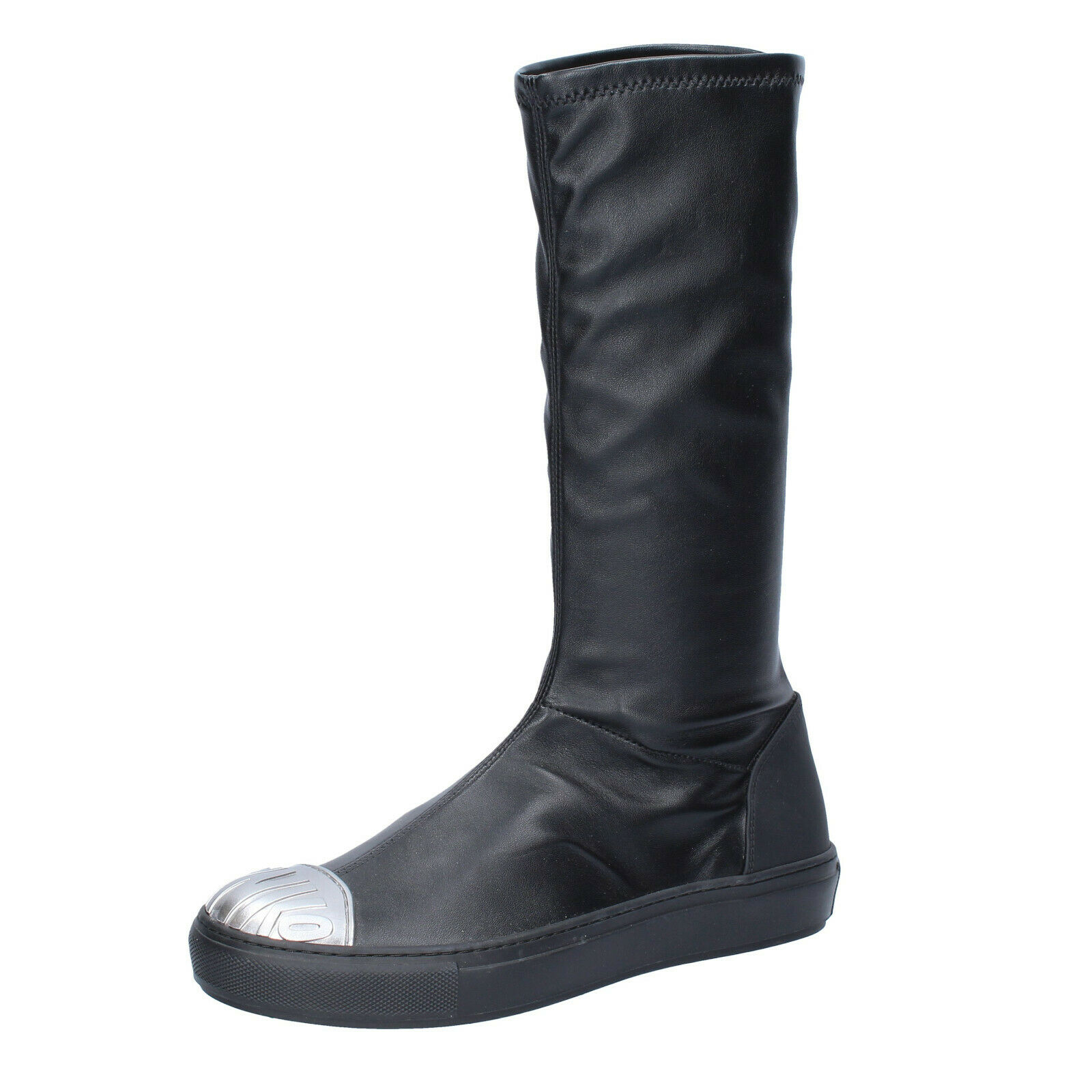 Chaussures femmes roseO 37 UE Bottes Noir Cuir bs276-37