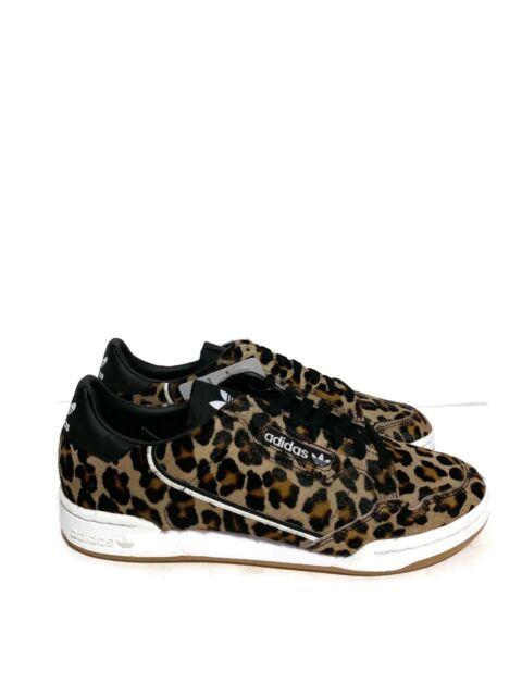 adidas Originals CONTINENTAL 80 Pony Hair Leopard Print Mens Size 10 F33994