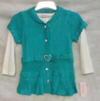 With Tags Kohls Girls 3 Piece Set Size 6x Green White Black Free Shipping