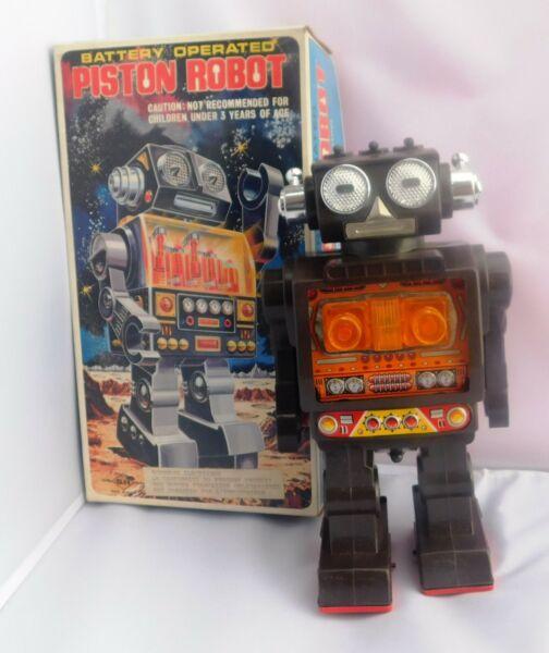 Logique Piston Robot. Vintage Robot Horikawa Made In Japan. Ht 28 Cm. Années 70/80