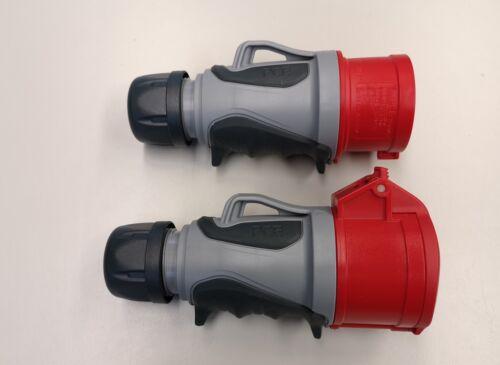PCE Grip TT ip44 CEE 16a 5p rojo set conector y embrague 5 polos