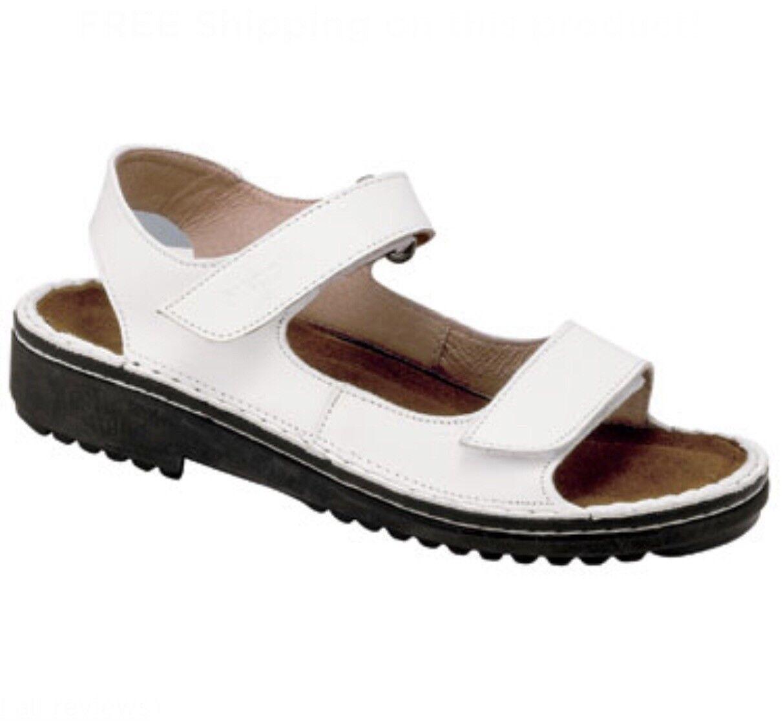 Naot Karenna Womens Sandals Ankle Straps Adjustable Slip Ons shoes White Sz 4 35