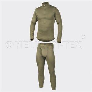 HELIKON-TEX-FREDDO-Army-Grid-Underwear-Pantaloni-Camicia-Us-Level-2-oliva-XL