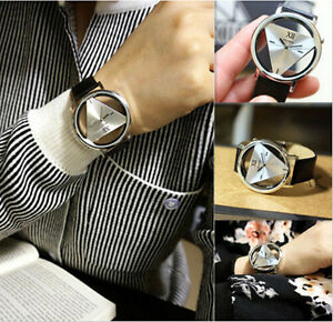 Fashion-Leather-Band-Stainless-Steel-Sport-Analog-Quartz-Women-Mens-Wrist-Watch