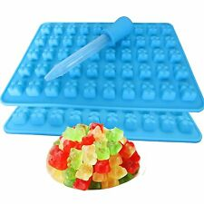 50 Cavity Chocolate Ice Tray Cute Bear Silicone Maker Candy Mold Gummy Jelly DIY