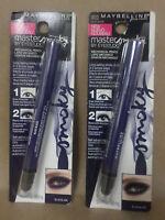 Maybelline Master Smoky Mechanical Pencil Blue Blaze 0.018 Oz Each Lot Of 2
