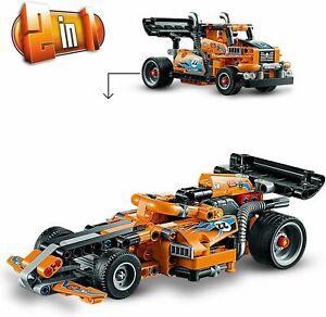 LEGO-42104-Technic-2-in-1-F1-Race-Car-amp-Truck-Pull-Back-Brand-New-In-Box