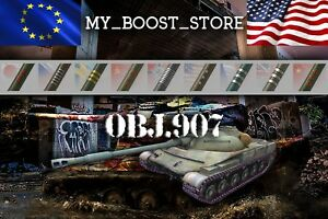 Details about World Of Tanks (WOT) 3 Marks of Excellence | Obj 907 | 3-5  Days | NOT BONUS CODE