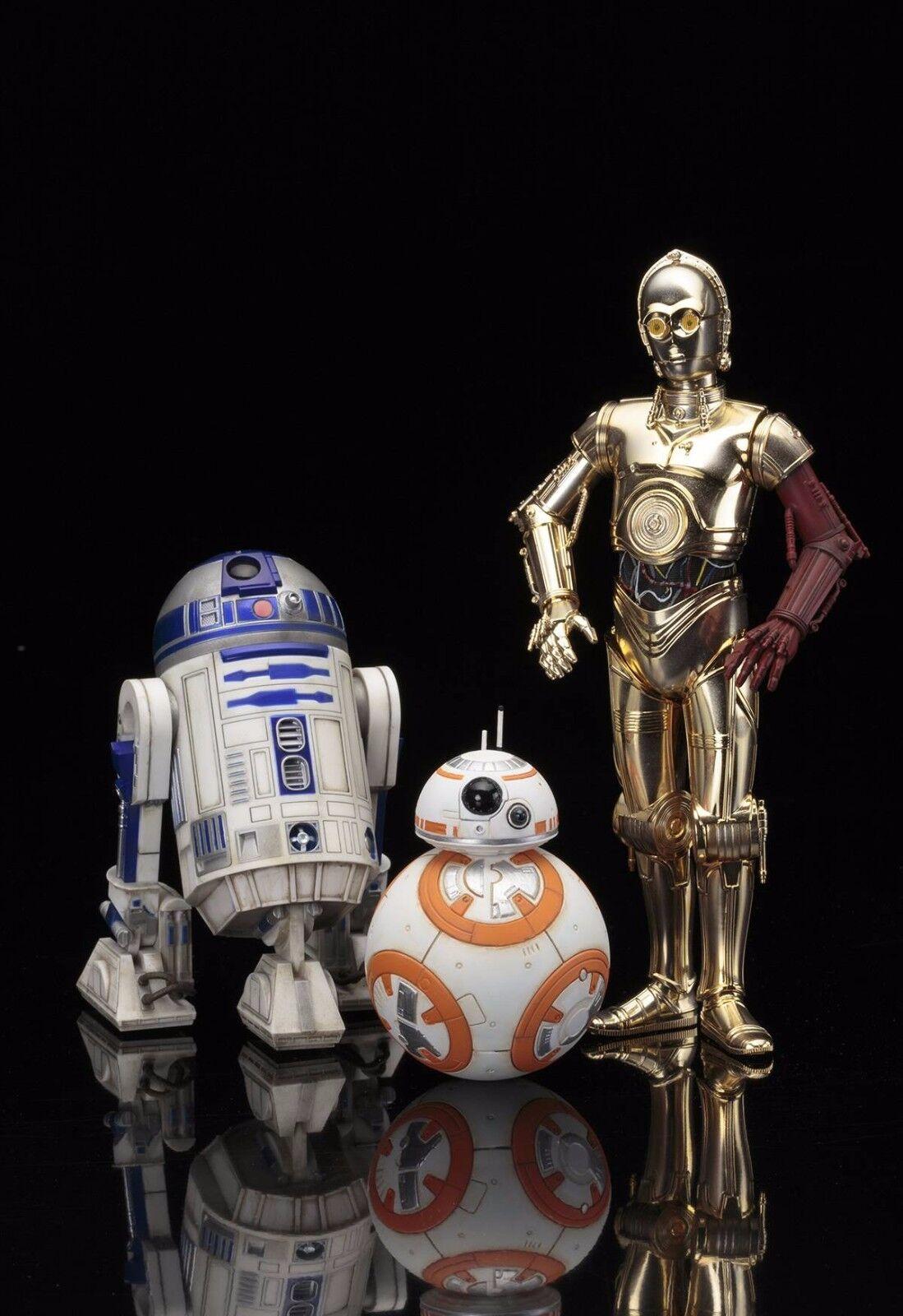 C-3PO & R2-D2 W  BB-8 ARTFX+ STATUE