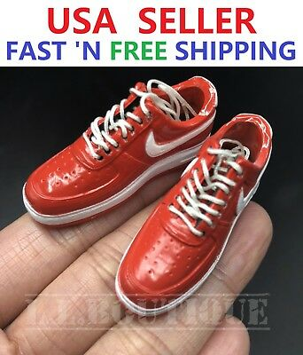 1//6 WHITE Nike Style Sneakers Sports Shoes HOLLOW for Custom 12/'/' Male Accessory