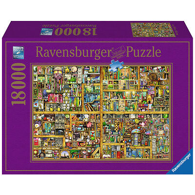 18000 Teile Ravensburger Puzzle Colin Thompson Magisches Bücherregal XXL 17825