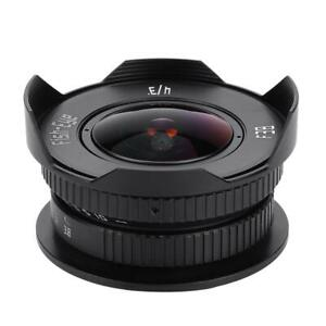 8mm-F3-8-Fish-eye-Lens-for-Micro-4-3-MFT-M4-3-E-PL7-Full-Frame-w-Lens-Cap-BS
