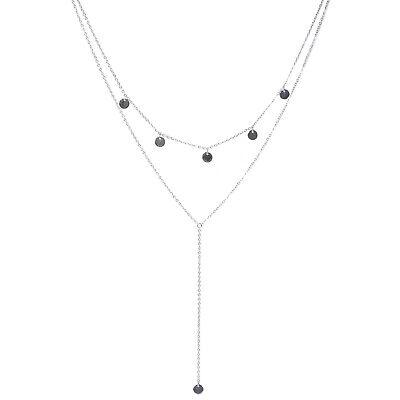 Solid 925 Sterling Silver Disc Dot Embossed Charm Necklace Bracelet Pendant