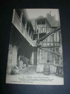 VINTAGE-POSTCARD-LISIEUX-Cour-Charlotte-Corday-9th-July-1793-Carte-Postale-38