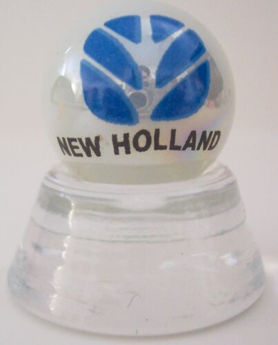 NICE NEW HOLLAND FARM TRACTORS LOGO  COLLECTOR MARBLE