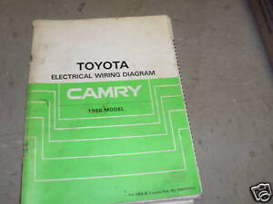 1986 Toyota Camry Electrical Wiring Diagram ...