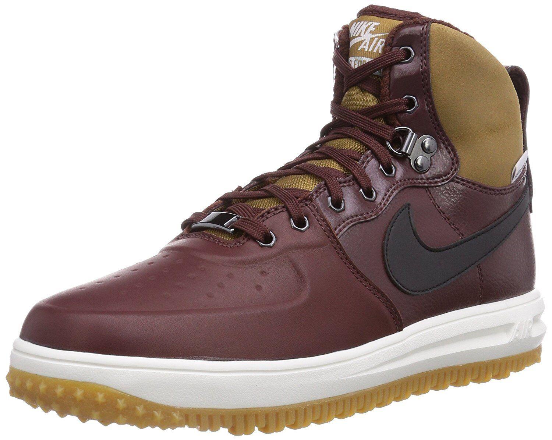 Nike Lunar Force 1 Men's Sneaker Boots - Size 8 (654481-200) BROWN/BLACK/WHITE