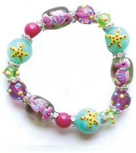 Seahorse-and-Starfish-Rhinestone-Glass-Beaded-Kate-and-Macy-Stretch-Bracelet