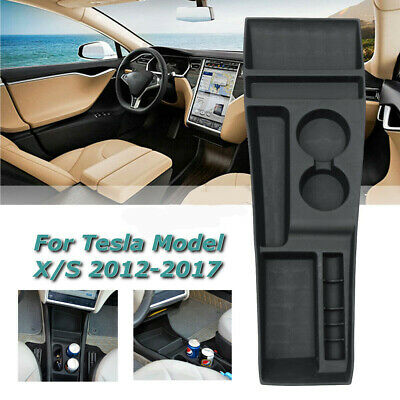 Front Center Console Storage Box Silicone for Tesla Model X Model S 2012-2017 CT