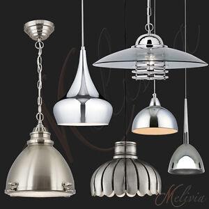 Lampara-de-Pendulo-Colgando-Industria-Cromo-Plata-Negro-Blanco-Cristal