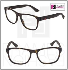 0015559670 GUCCI 0173 Matte Brown Havana STRIPE RX Eyeglasses Optical Frame 54mm  GG0173O