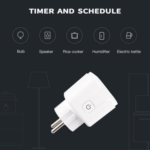 1~5X 16A WiFi Smart EU Plug Power Socket Works with Amazon Echo/&Google Home G9J0