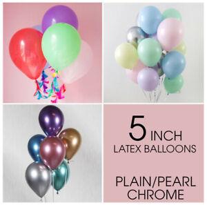"5"" Pouces Ballons Plain Pastel Chrome Ballon Latex Ballon Bday Mariage Décoration"