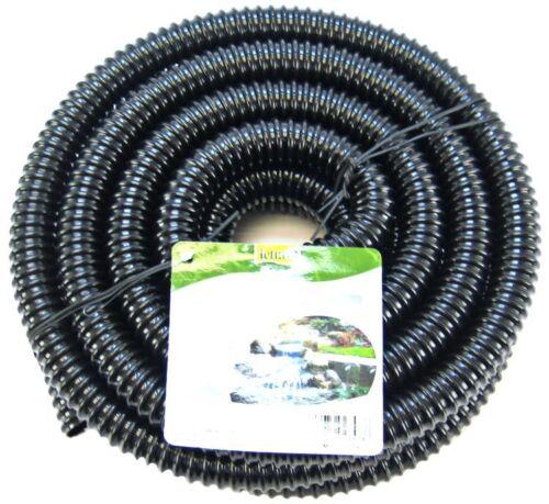 "1/"" ID x 20 Feet Long Tetra Pond Corrugated Non-Kink Pond Tubing Black"