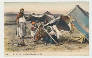 Marokko-farbige-AK-034-Marokkanisches-Lager-034-Gourbi-Marocain