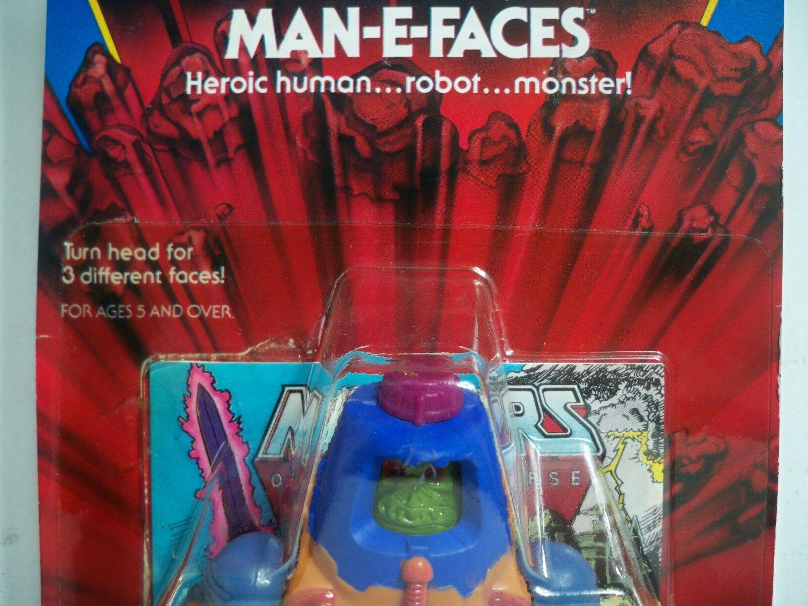 K1899423 MAN-E-FACES MOC MINT ON SEALED CARD HE-MAN MOTU ORIGINAL 1982 VINTAGE