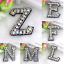 miniature 1 - Rhinestone Letter Patches Sew on Iron on Alphabet Patch Letters Embroidered A-Z