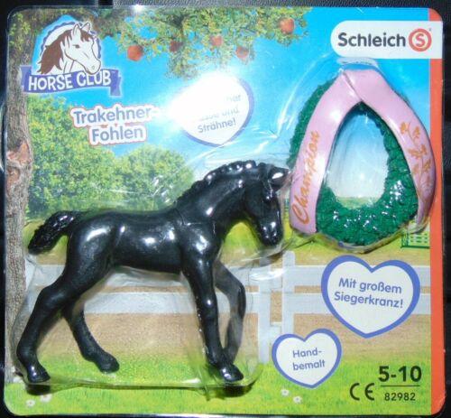 HORSE CLUB- TRAKEHNER-FOHLEN Schleich Figuren,Tiere Siegerkranz TOP