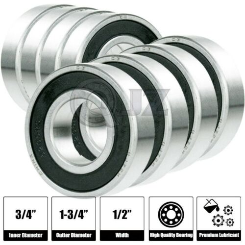 8x 1635-2RS Ball Bearing 1.75in x 0.75in x 0.5in Free Shipping 2RS RS