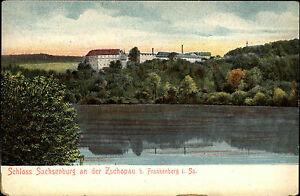 Frankenberg-Sachsen-1900-10-Fernblick-Schloss-Sachsenburg-Litho-AK-Verlag-Ivens