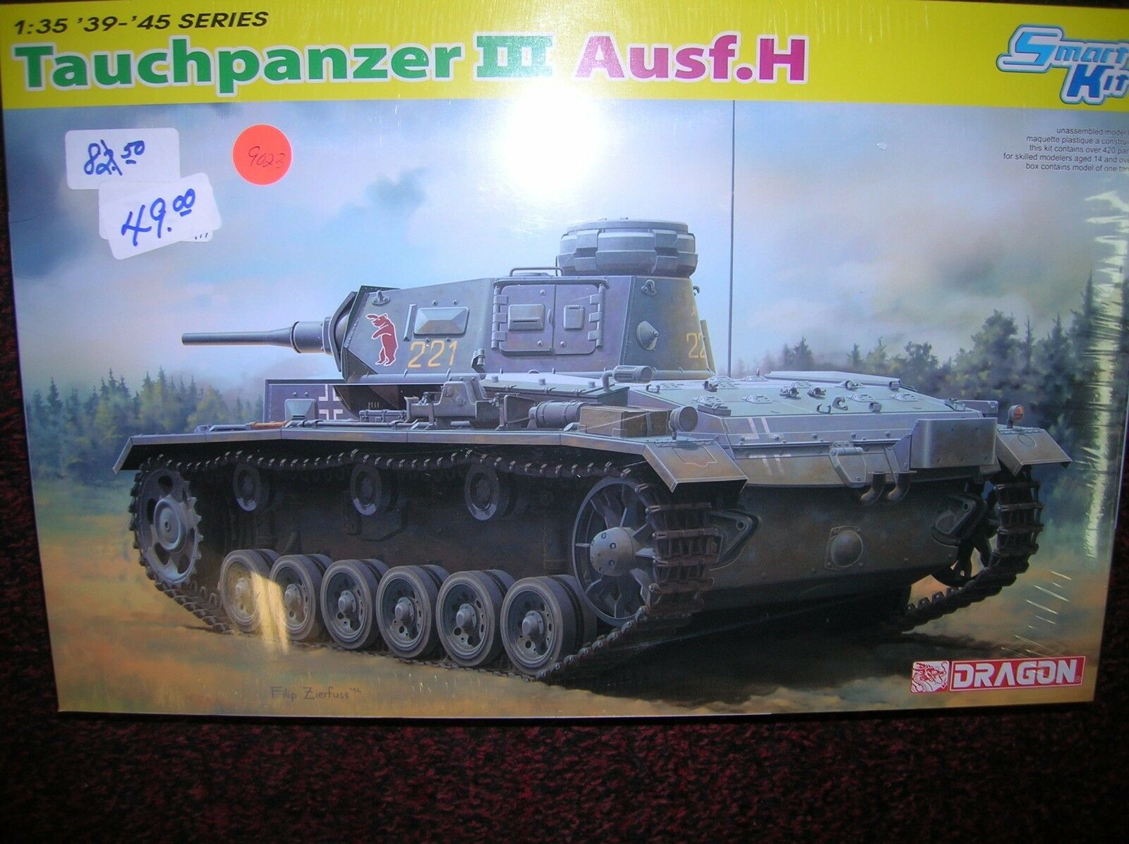 Italeri   Tauchpanzer III Ausf.H 1 35 new boxed list  82.50  lot