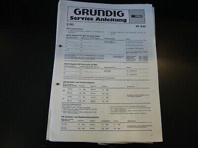Angemessen Original Service Manual Grundig Rf 830 Verkaufsrabatt 50-70%