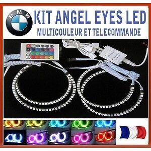 KIT ANGEL EYES LED RGB avec télécommande pour BMW E36