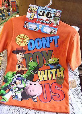 Disney Pixar 3-D Toy Story 3 T-Shirt, MINT-3-D Glasses! Don't Toy With Us