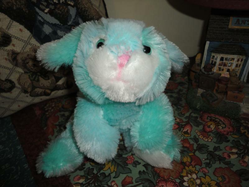 Turquoise blu BUNNY RABBIT Super Soft Plush Toy 9 inches