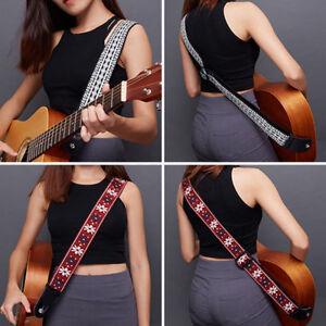 Trenza-De-Bordado-Tejido-Correa-de-Guitarra-2-034-Cuero-final-para-bajo-acustica-electrica