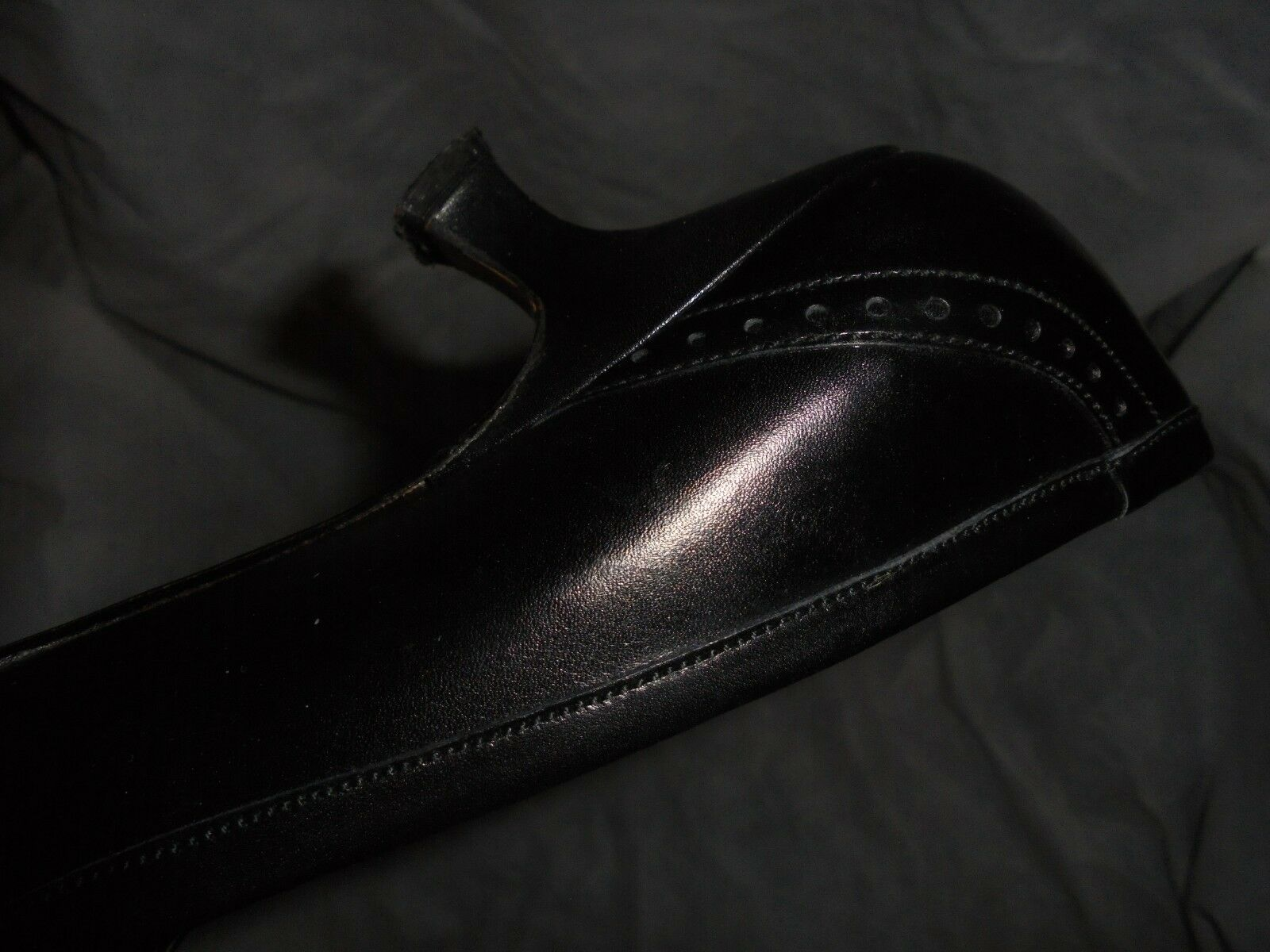 L.K. BENNETT WOMEN'S BLACK LEATHER SLIP 3 ON Schuhe SIZE UK 3 SLIP EU 36 VGC 0d02eb